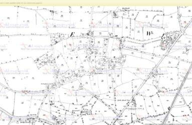 Fradley Map -1883 - Village