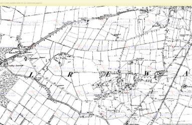 Fradley Map - north - OS Staffs 1887-1890